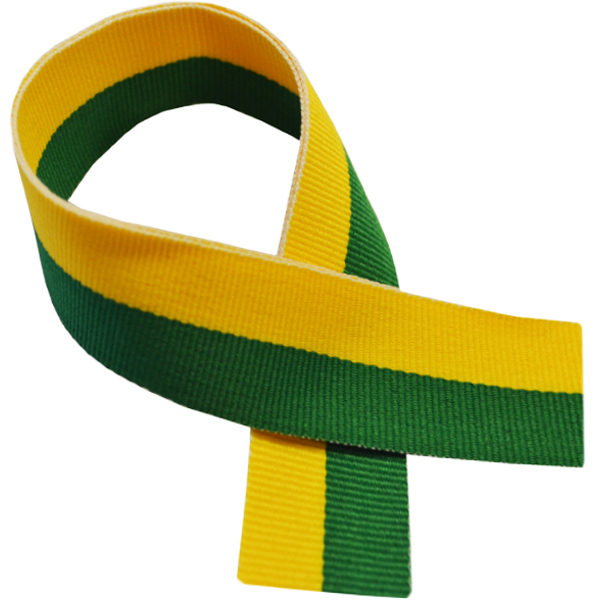 "Green & Yellow Medal Ribbon 76cm (30"")"
