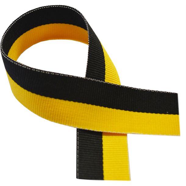"Black & Yellow Medal Ribbon 80cm (32"")"