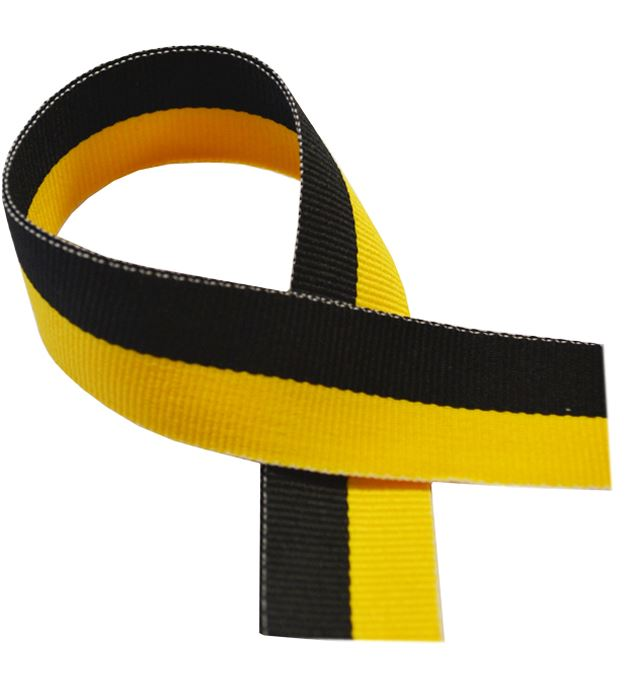 "Black & Yellow Medal Ribbon 80cm (32"")"