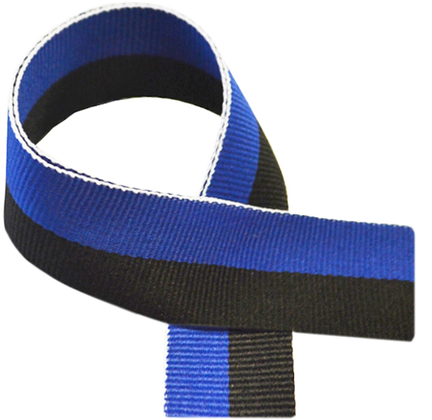 "Blue & Black Medal Ribbon 76cm (30"")"