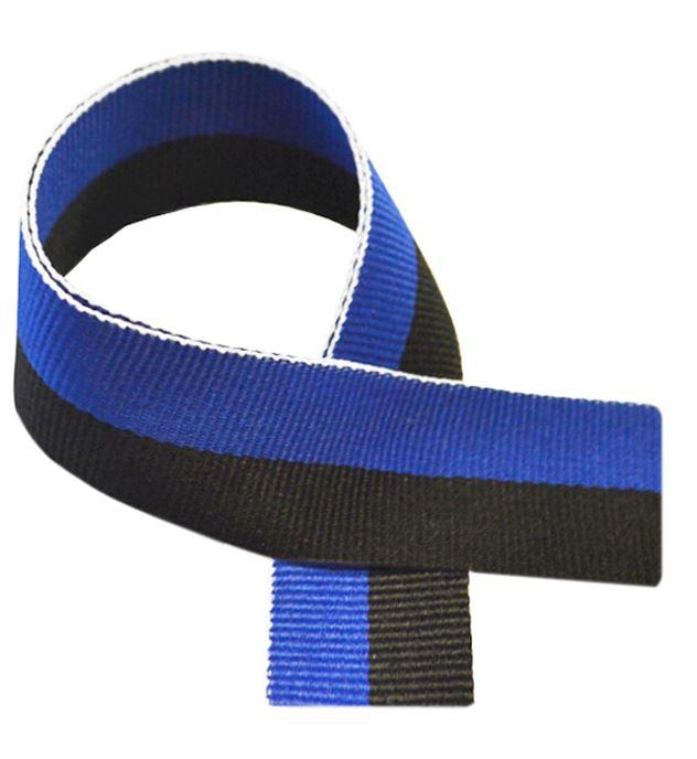"Blue & Black Medal Ribbon 80cm (32"")"