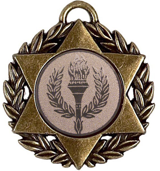 "Bronze Multi Sport Star Medal 50mm (2"")"
