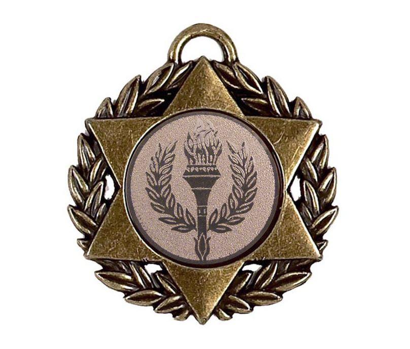 """Bronze Multi Sport Star Medal 50mm (2"""")"""