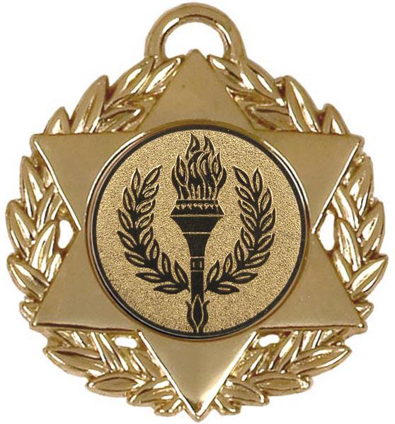 """Gold Multi Sport Star Medal 50mm (2"""")"""