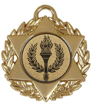 "Gold Multi Sport Star Medal 50mm (2"")"