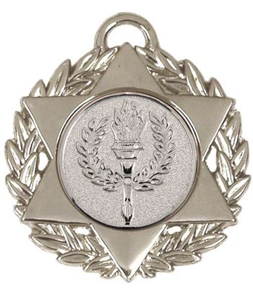 "Silver Multi Sport Star Medal 50mm (2"")"