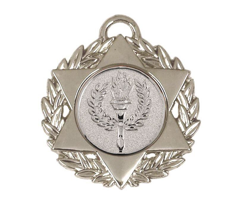 "Silver Multi Sport Star Medal 50mm (2"")"
