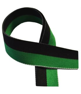 "Green & Black Medal Ribbon 76cm (30"")"