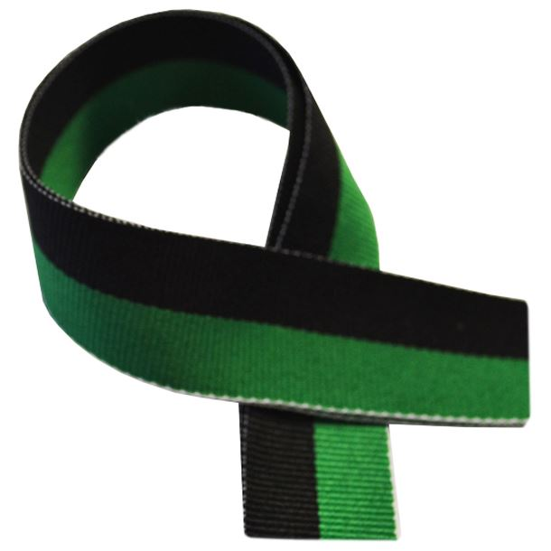 "Green & Black Medal Ribbon 80cm (32"")"
