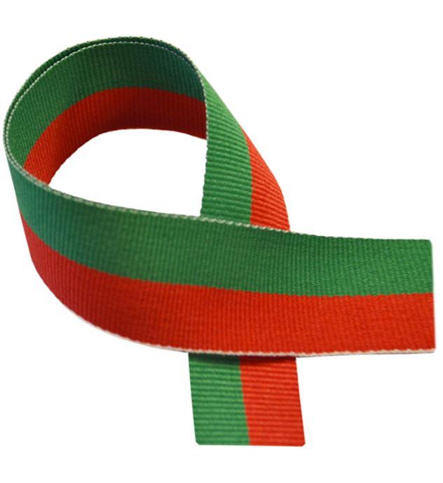 "Red & Green Medal Ribbon 80cm (32"")"