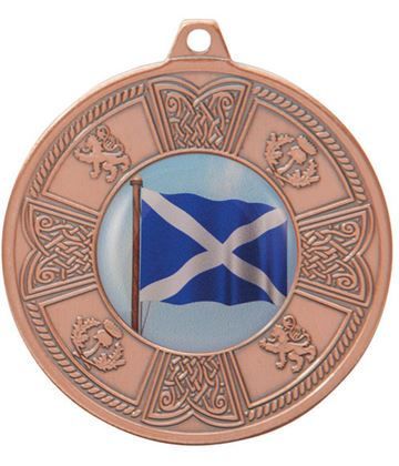 "Bronze Balmoral Scottish Pattern Medal 50mm (2"")"