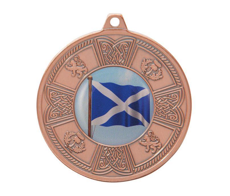 "Bronze Balmoral Scottish Pattern Medal 50mm (2"")"