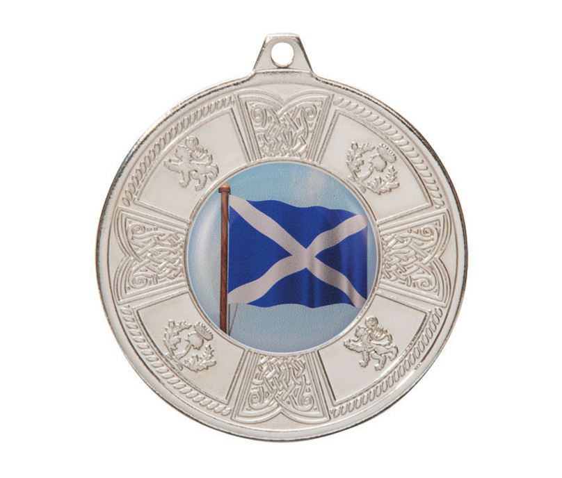 "Silver Balmoral Scottish Pattern Medal 50mm (2"")"