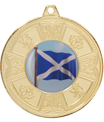 "Gold Balmoral Scottish Pattern Medal 50mm (2"")"