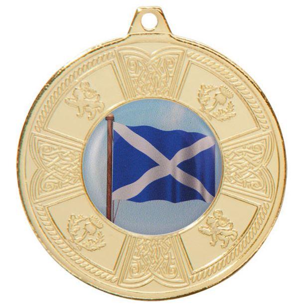 "Gold Balmoral Scottish Pattern Medal 50mm (2"")"