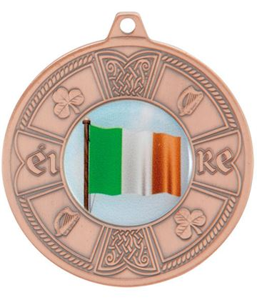 "Bronze Irish Eire Pattern Medal 50mm (2"")"