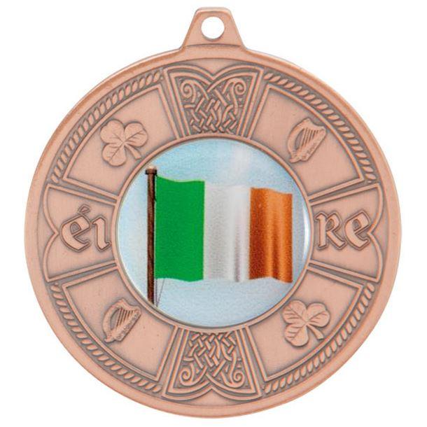 "Bronze Irish Eire Pattern Medal 50mm (2"")"