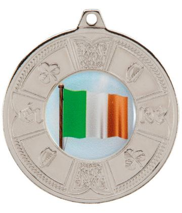 "Silver Irish Eire Pattern Medal 50mm (2"")"