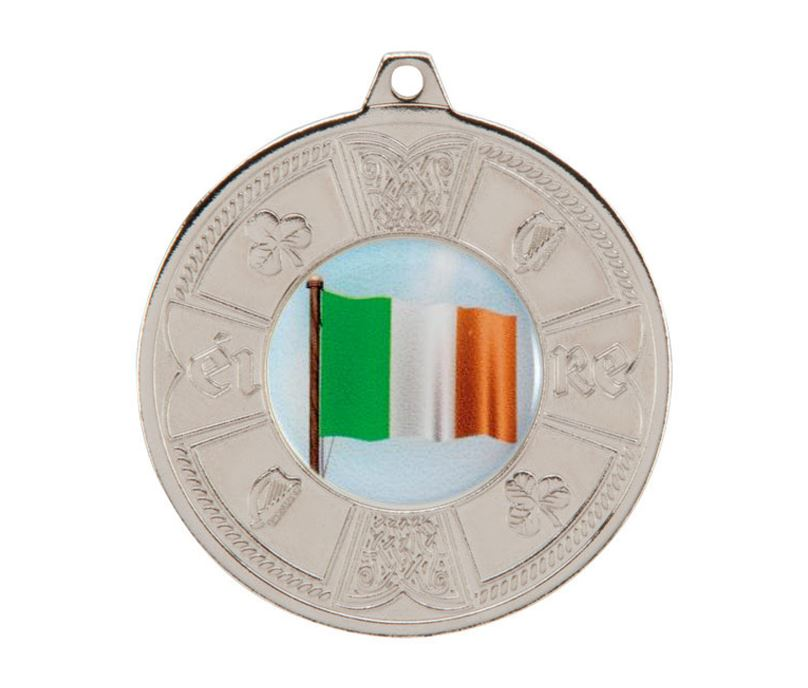 "Silver Irish Eire Pattern Medal 50mm (2"")"