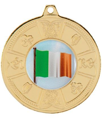"Gold Irish Eire Pattern Medal 50mm (2"")"
