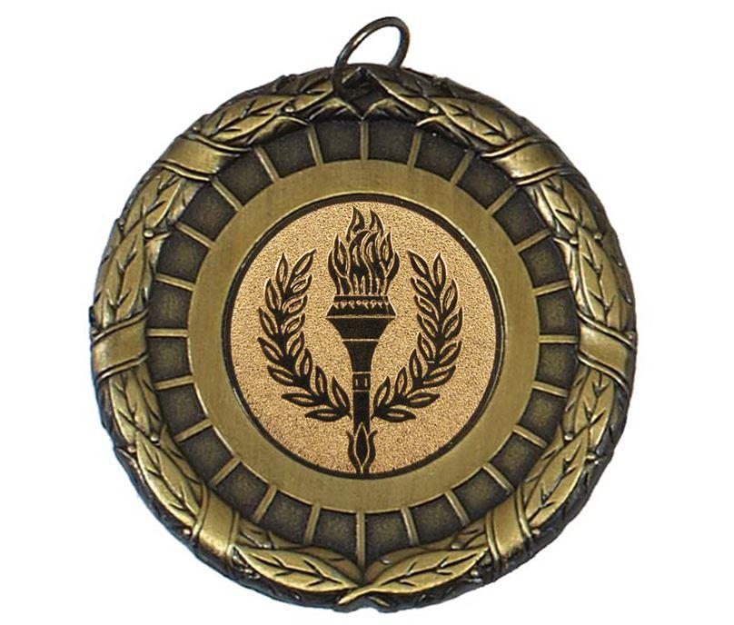 """Gold Laurel Wreath Medal Centre Disc 50mm (2"""")"""