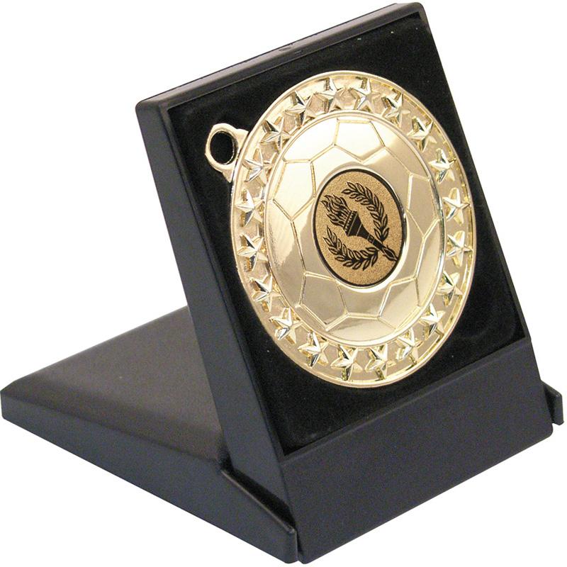 Black Medal Presentation Box 60 or 70mm Recess