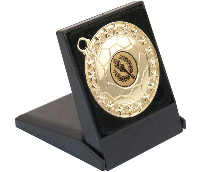 Black Medal Presentation Box 60 or 70mm Recess