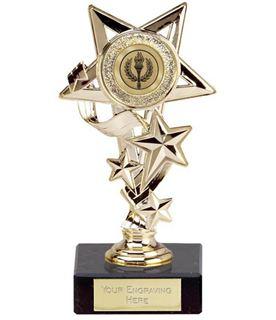 """Gold Cascade Star Trophy 14.5cm (5.75"""")"""