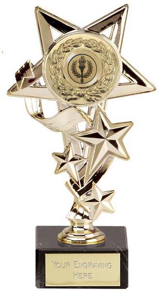"""Gold Cascade Star Trophy 19.5cm (7.75"""")"""