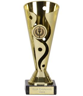 "Gold Plastic Carnival Cup Trophy on Marble Base 17cm (6.75"")"