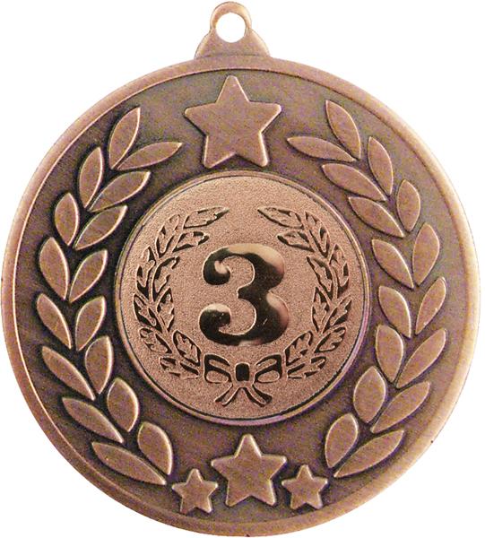 "Bronze Stars & Laurel Wreath Medal 50mm (2"")"