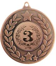 "Bronze Stars & Laurel Wreath Medal 50mm (2"")"