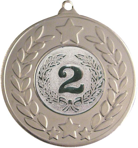 "Silver Stars & Laurel Wreath Medal 50mm (2"")"
