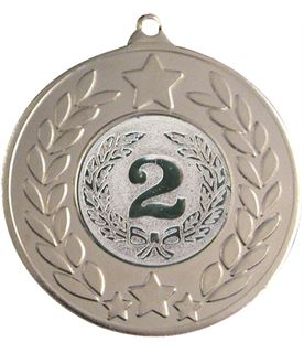 "Silver Stars & Laurel Wreath Medal 50mm (2"")"
