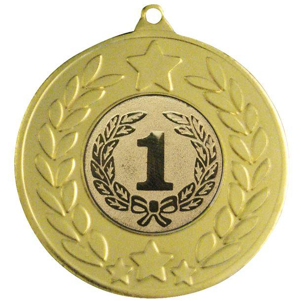"""Gold Stars & Laurel Wreath Medal 50mm (2"""")"""