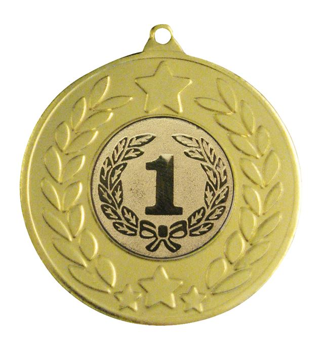 "Gold Stars & Laurel Wreath Medal 50mm (2"")"