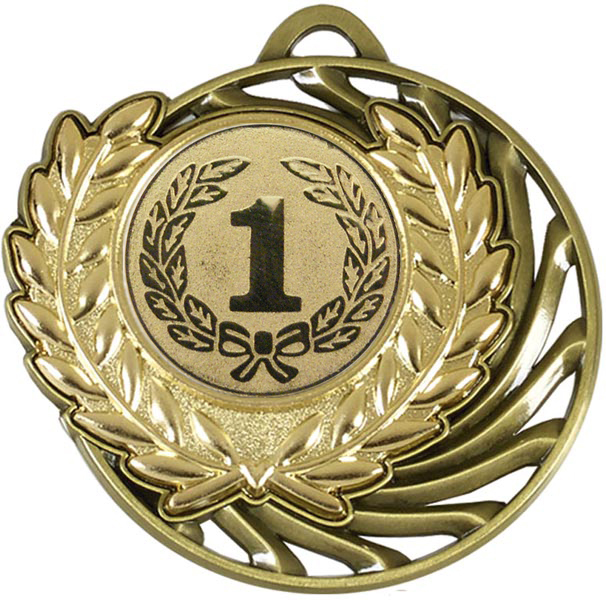 "Gold Laurel Wreath Vortex Medal 5cm (2"")"