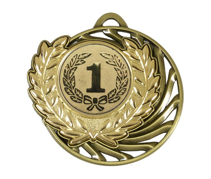 "Gold Laurel Wreath Vortex Medal 50mm (2"")"