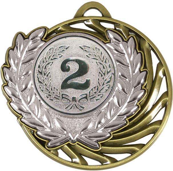 "Silver Laurel Wreath Vortex Medal 50mm (2"")"
