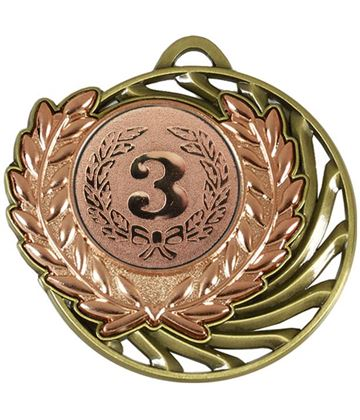 "Bronze Laurel Wreath Vortex Medal 50mm (2"")"
