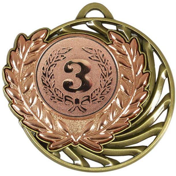 """Bronze Laurel Wreath Vortex Medal 50mm (2"""")"""