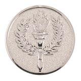 """2"""" Silver Laurel Wreath Centre Disc"""