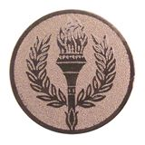 "2"" Bronze Laurel Wreath Centre Disc"