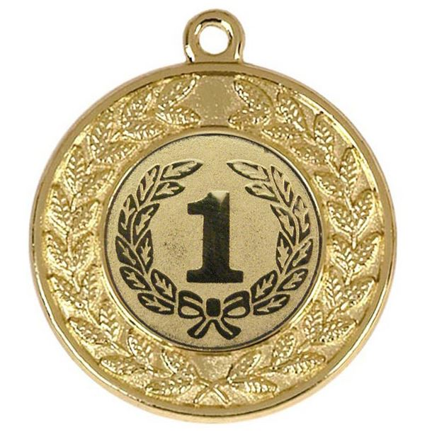 """Round Victory Torch Gold Medal 50mm (2"""")"""