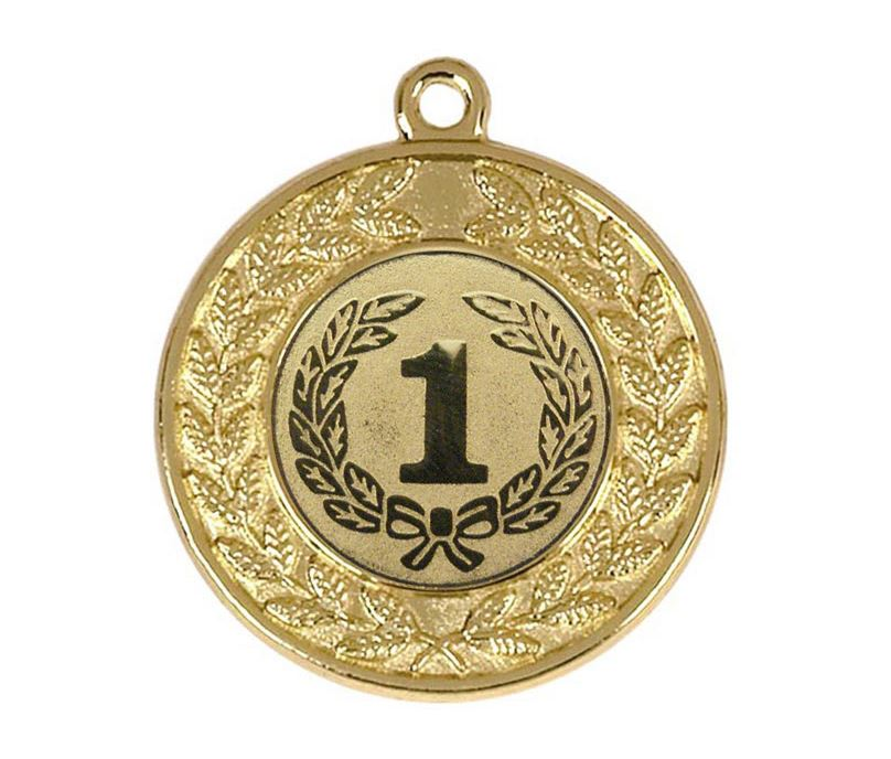 "Round Victory Torch Gold Medal 50mm (2"")"