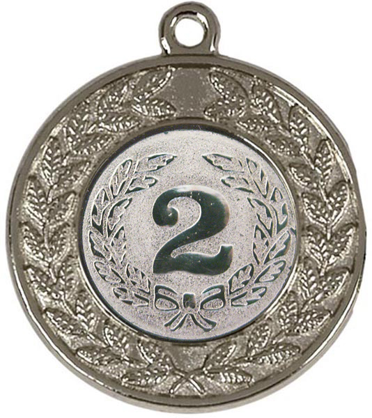 """Round Victory Torch Silver Medal 50mm (2"""")"""
