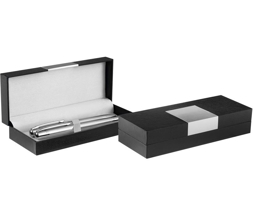 Luxury Single or Double Pen Presentation Box with Engraving Plate