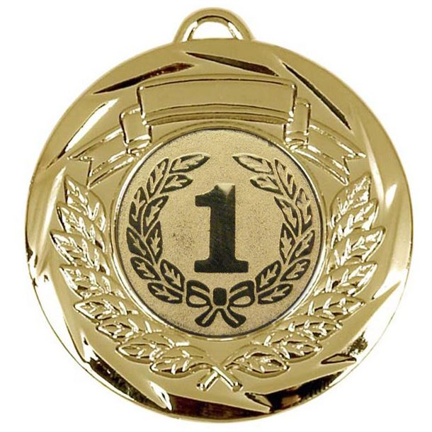 "Multi Sport Barrel Plated Gold Medal 50mm (2"")"