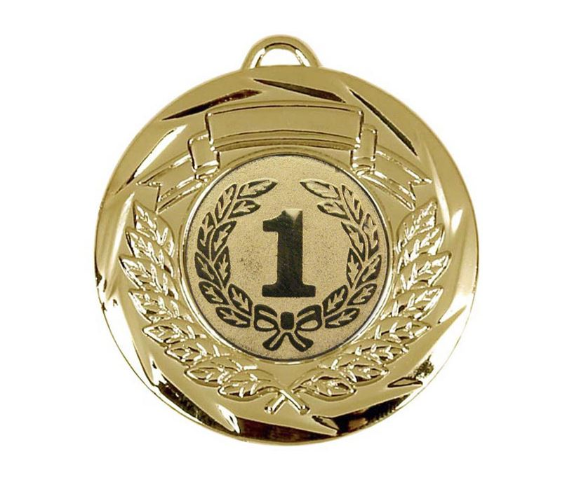 "Multi Sport Barrel Plated Gold Medal 50mm (2"")"