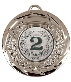 "Multi Sport Barrel Plated Silver Medal 50mm (2"")"